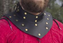 Dark Victory Armor Brigantine Gorget Steel & Leather Gorget